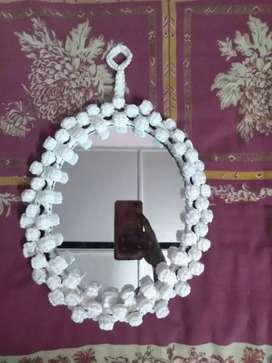 Homemade Macrame wall hanging Mirror