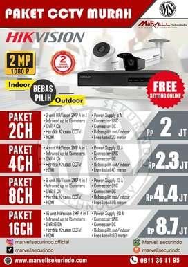 CCTV termurah berkualitas MERK HIKVISION 2MP