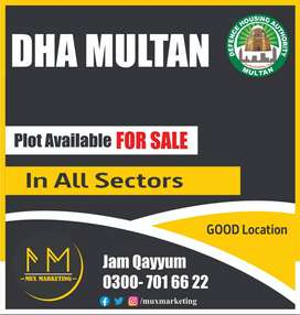 DHA Multan, Plot Available in Sector All Sectors