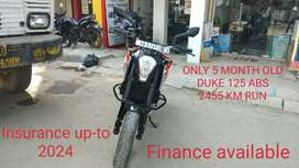 Only 5 month old duke 125 ABS with 5 years Insurance Emi available
