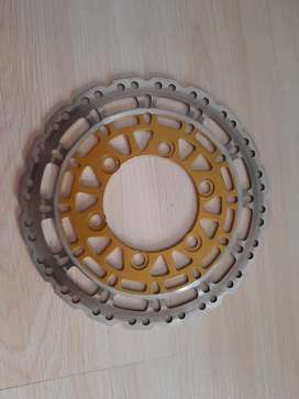 Piringan cakram belakang klx New dt uk220mm merk scarlet