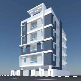 Near to highway 2bed room flat for sale in Madhurawada