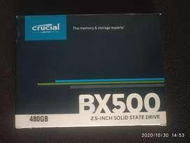 UNUSED Crucial BX500 480GB 3D NAND SATA 2.5-inch SSD (CT480BX500SSD1)