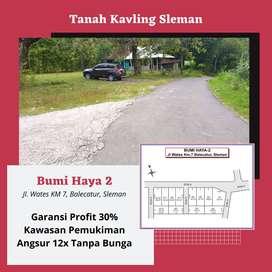 Kavling Murah Jl. Wates KM 7 Pinggir Jalan Aspal Jaminan SHM