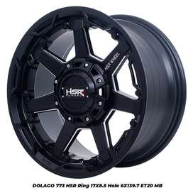 Velg Pajero Hilux HSR DOLAGO R20X95 H6X139,7 ET20 Pelek Racing