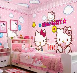 Jasa aplikator ahli pemasangan wallpaper dinding