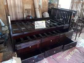 Tempat tidur anak susun minimalis kayu jati ajf318