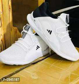 Ultra Lite White Mesh Casual Sports Shoes