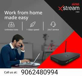 Airtel broadband services provided for new connection excellent offer