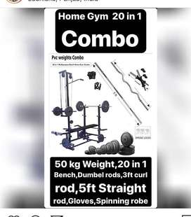 Home gym set with combo