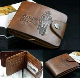 Genuine pu Leather men's wallets