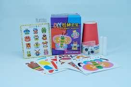 Mainan Montessori Anak DIY Cup