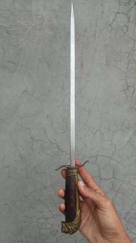 pedang barberque, mix kuningan & kayu sonokeling
