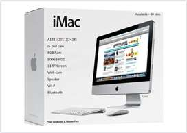 """APPLE iMAC ALL IN ONE with BOXPACK  i7 & I5 /22"""" WIDE DISPLAY"""