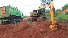 Land clearing cut and fill aspal jalan beton pengurugan tanah puin