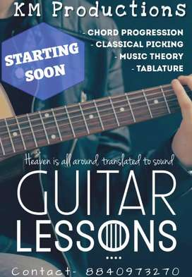 Online Guitar and Piano classes.