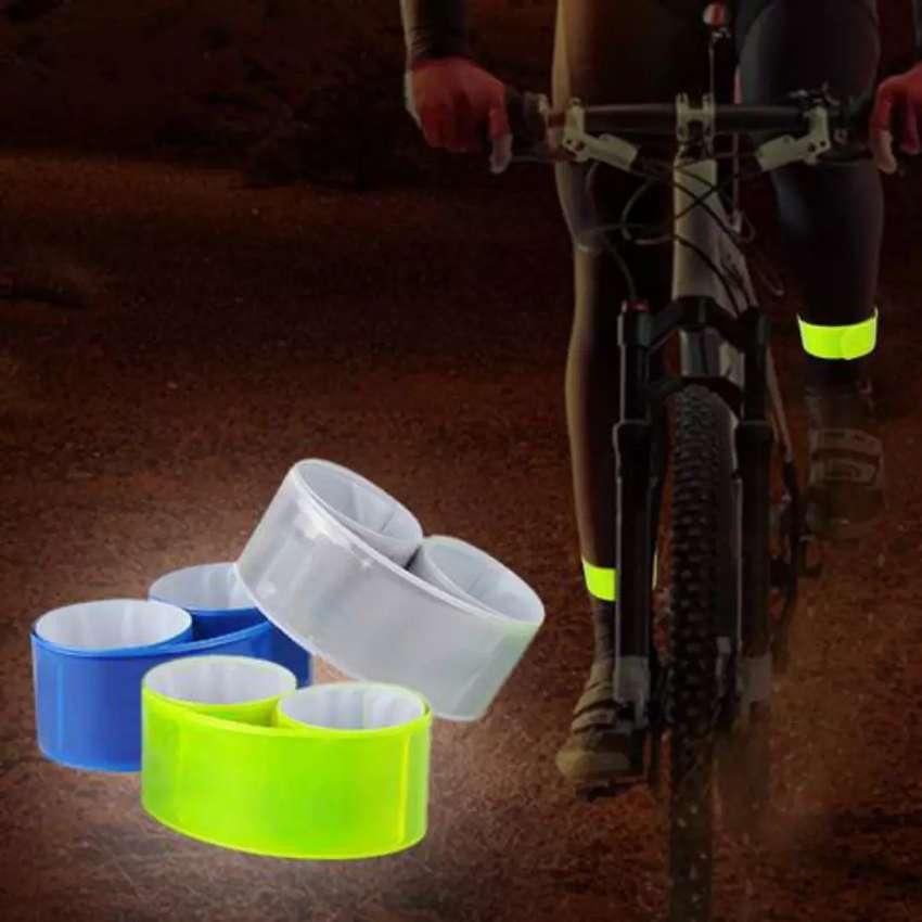 HS strap reflektor perlengkapan bersepeda malam hari