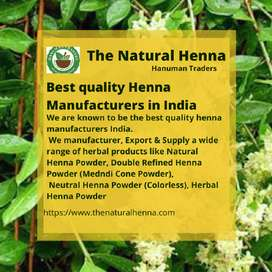 Best quality Henna Manufacturers in India
