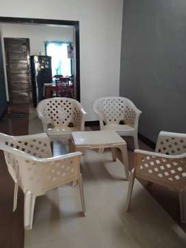 4 chairs with small table