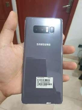 Dijual Samsung Note 8 dual sim warna Orchid Grey