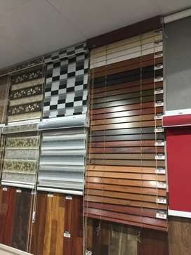 Window decor roller zebra wooden vertical blinds (doorstep services)