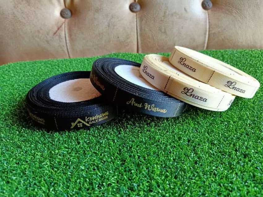 Pita Grosgrain Label Baju Sablon 0