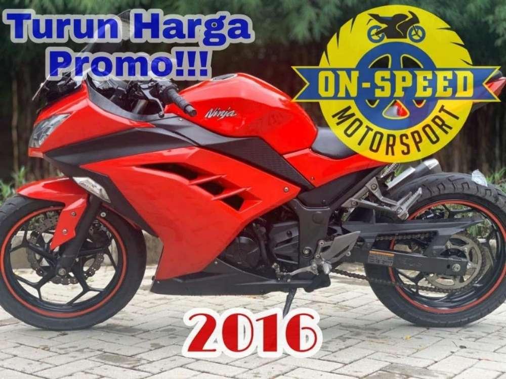 CASH CREDIT JUAL MOTOR MOGE KAWASAKI NINJA 250 FI MERAH 2016 LOW KM
