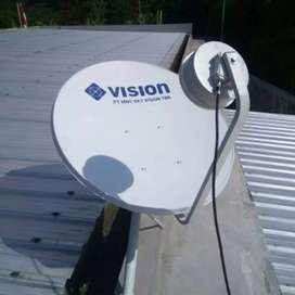 Parabola jernih Indovision MNC vision paket Jawara dan Top Vision