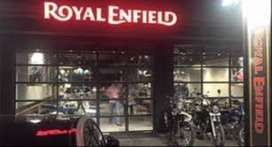 LIMITED VACANICES ARE AVILABLE FOR  ROYAL ENFIELD SHOWROOM