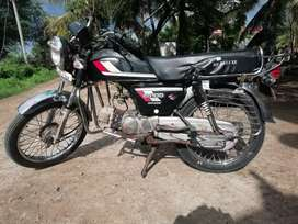 Newly modified bike with all asseries