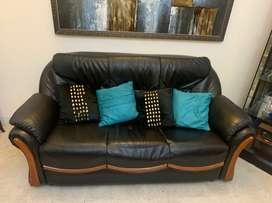 Leatherette 5 seater sofa 3+1+1