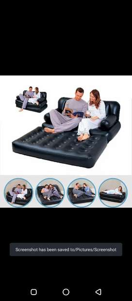5 in 1 foldable inflatable sofa Multifunctional furniture
