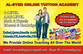 Online tution for( IGCSE) O levels  A levels( CIE /Edexcel ) MATHS