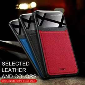 Casing premium oppo find x,samsung s9 + plus luxury leather