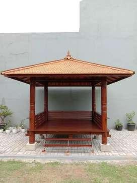 Gazebo taman rumah minimalis ukuran 3M