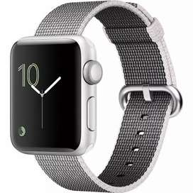 Apple watch 42mm case silver Aluminium with complete box