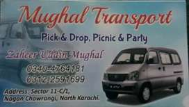 7 seater car Faw xpv all Karachi pick n drop services