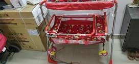 Cradle and stroller for babies (hardly used)