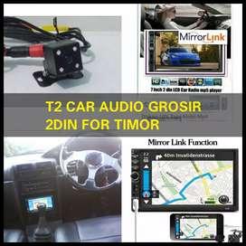 Buat TIMOR 2din android link led 7inc full hd+camera hd harga grosir