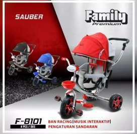 Sepeda Family Sauber f8101 tricycle roda tiga kanopi
