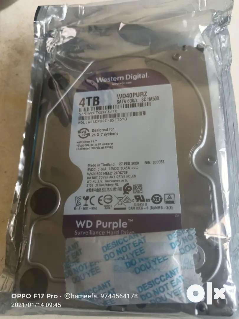 4 tb desktop and cctv camera Hard disk 0