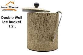 HomeMaster Ice Bucket Stainless Tempat Penyimpanan Es Batu Gold