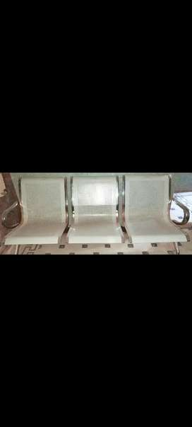 Visiting steel bench / chair 3 seater