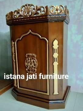 Mimbar masjid setok tersedia mimbar masjid & musholla