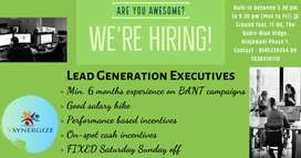 Hiring for Lead Generation Executive