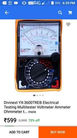 ₹599 analog multimeter
