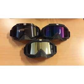 Kacamata motocross/ski/sepeda warna Hitam