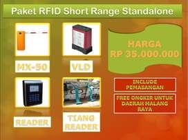 Paket Palang Otomatis Sistem Kartu RFID Standalone 1 IN 1 OUT