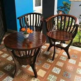 kursi teras mangkok materil kayu jati free ongkir area jateng DIY