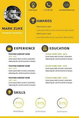Custom CV Design - Professional Resume Design
